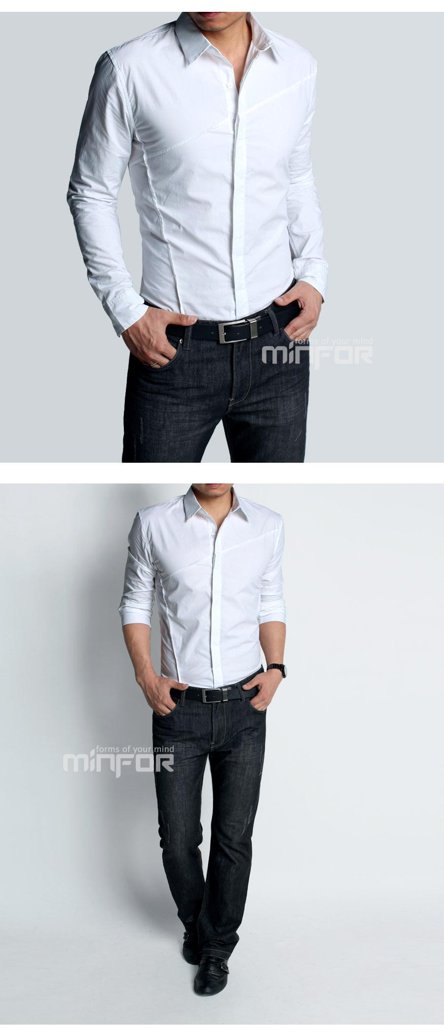 Мужская с длинными рукавами рубашки