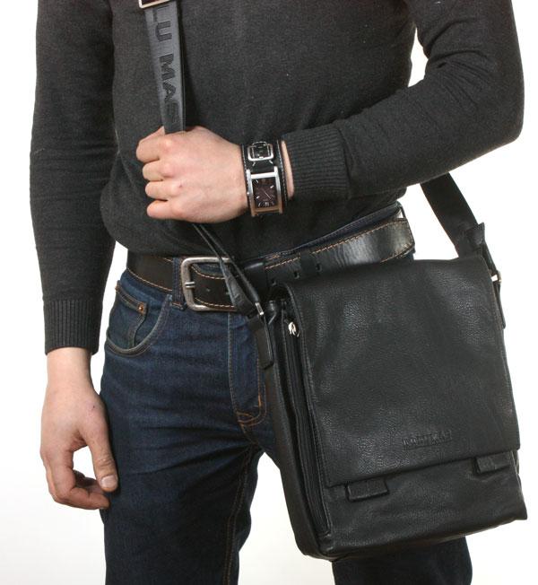 Мужская кожаная сумка через плечо своими руками